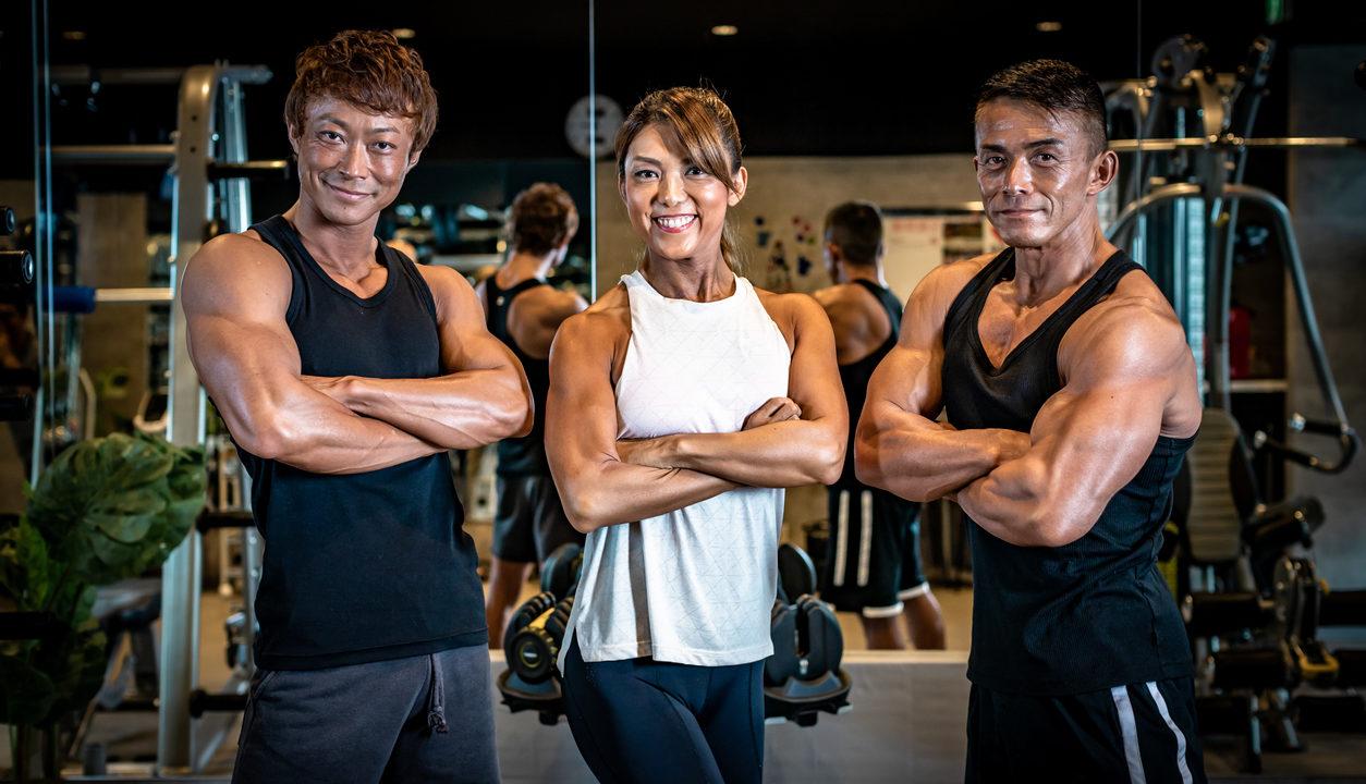Portrait of mature bodybuilder